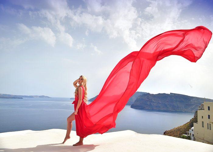 My Paradise Shoot Santorini Dress